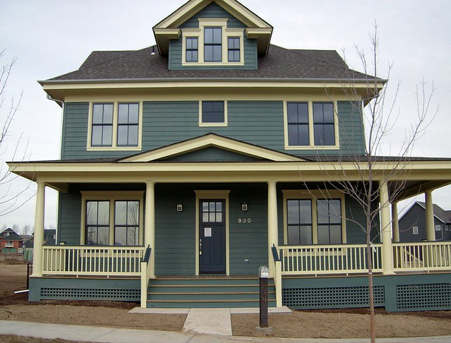 Front Elevation Of House In America : American foursquare on steroids front elevation prospect