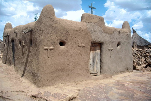 Church in a Dogon village, Mali