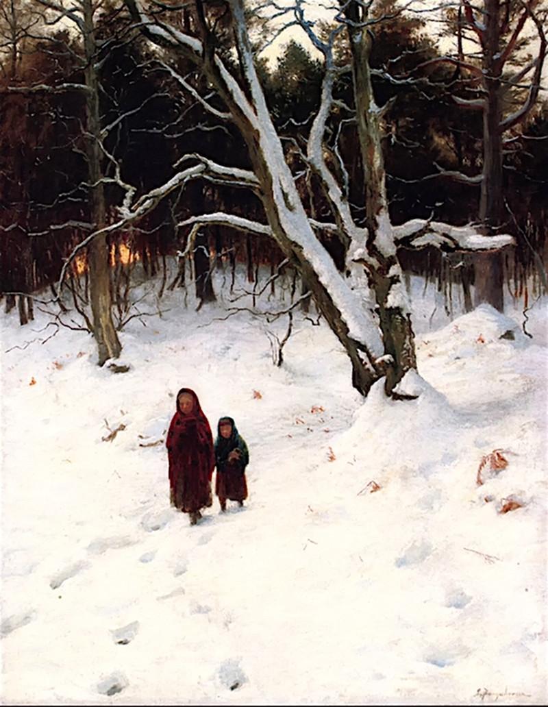 A Walk in the Snow by Joseph Farquharson