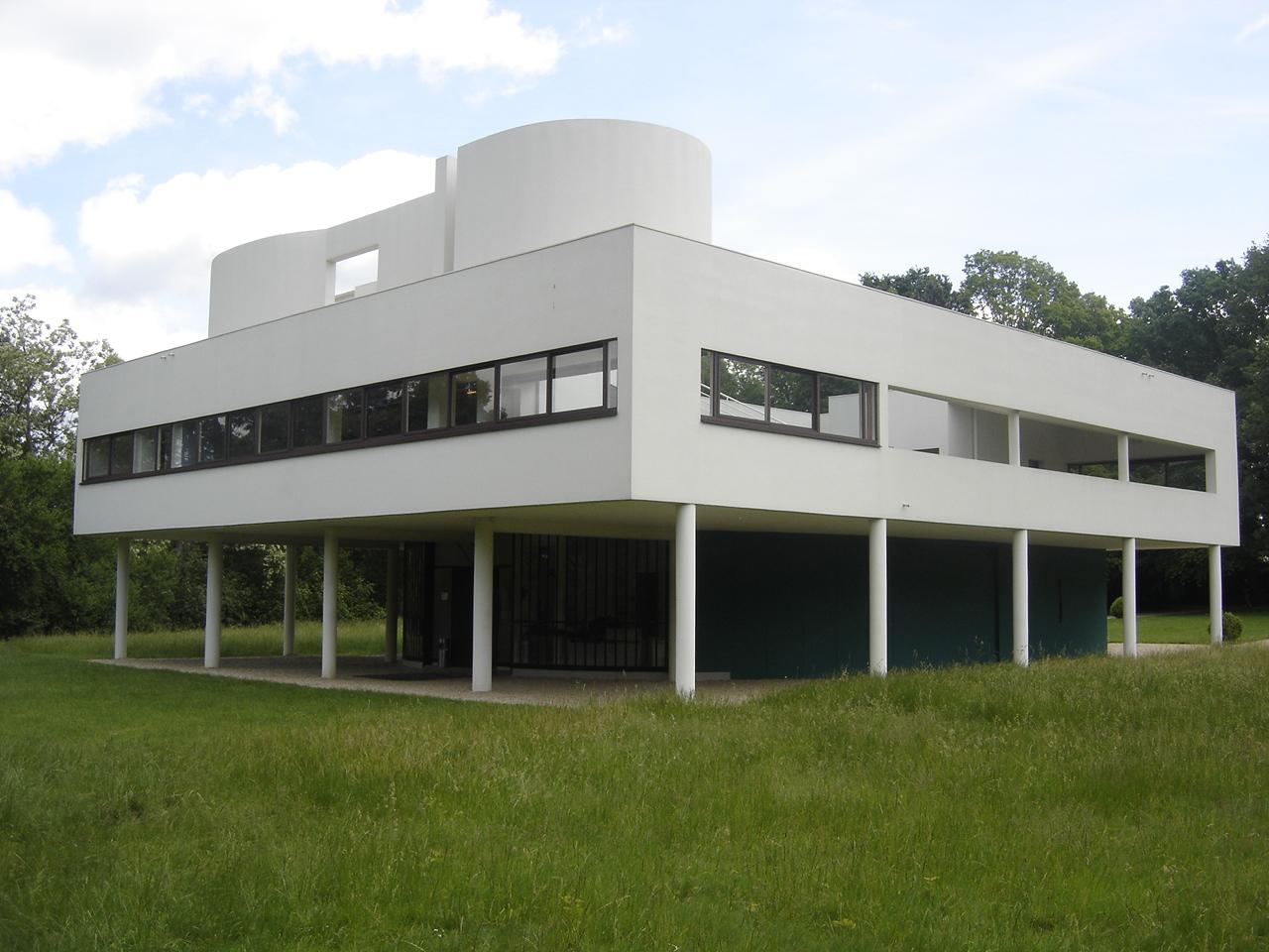 progetti architetti famosi villa savoye di le corbusier. Black Bedroom Furniture Sets. Home Design Ideas
