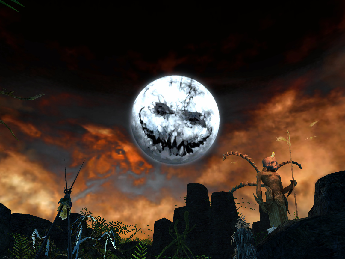 Halloween Moon Over Kamadan - a photo on Flickriver