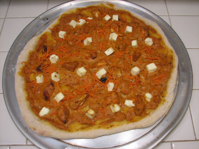 Chicken makhani paneer carrot pizza | Flickr - Photo Sharing!