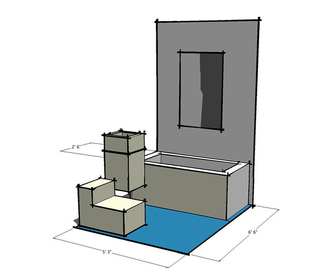 Ultra Rough Sketchup Model Of The Bathroom I Made This In Flickr Photo Sharing