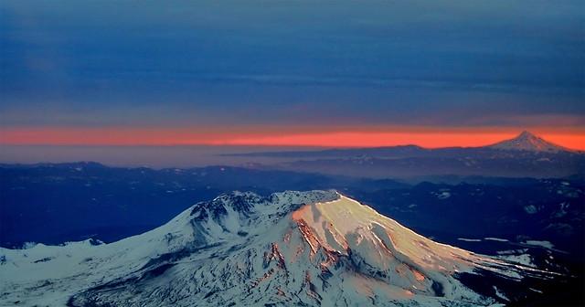 Sunset, Helens, Hood
