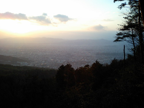 Sunset on top of Higashiyama