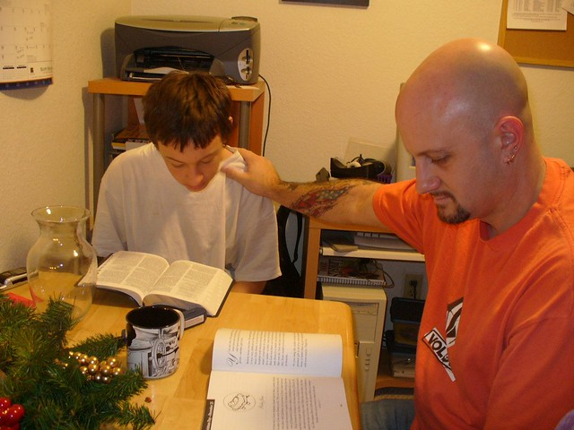 Andrew and Josh Christmas reading