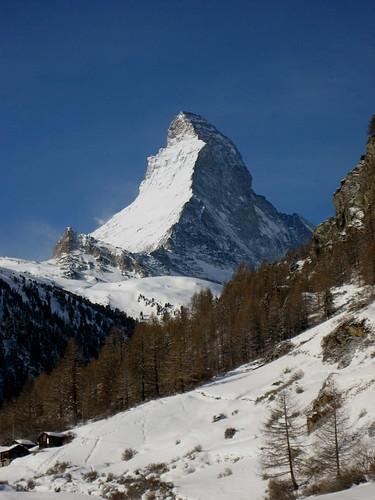 Matterhorn / Mont Cervin / Monte Cervino (VS/I - 4`478m) bei Zermatt im Kanton Wallis in der Schweiz