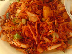 mie goreng(0.0), pickled foods(0.0), chow mein(0.0), pancit(1.0), dak galbi(1.0), produce(1.0), food(1.0), dish(1.0), pad thai(1.0), cuisine(1.0), kimchi(1.0),