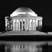 Jefferson Memorial in black and white