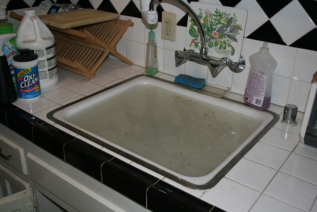 Kitchen Sink Backup Not Caused By Clog