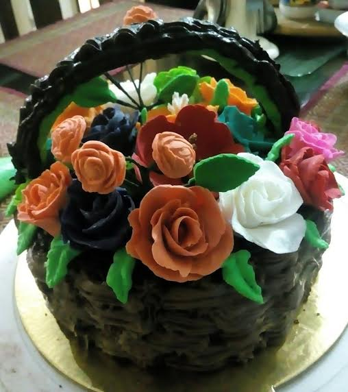 Floral Cake by Ishani Chatterjee of Ishani's Delicious Delight