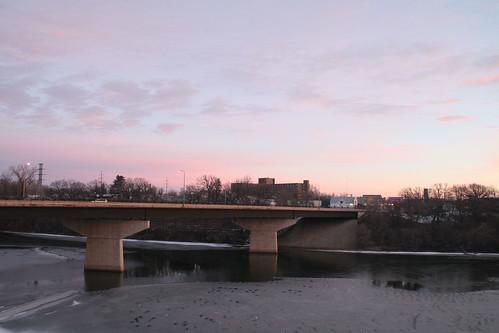 minnesota sunrise mississippiriver mapped stcloud veteransbridge