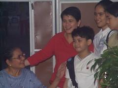 Dellosa-Delfin Family receiving their gifts
