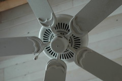 daylighting(0.0), wheel(0.0), wing(0.0), propeller(0.0), lighting(0.0), aircraft engine(0.0), ceiling fan(1.0), ceiling(1.0), mechanical fan(1.0), home appliance(1.0),