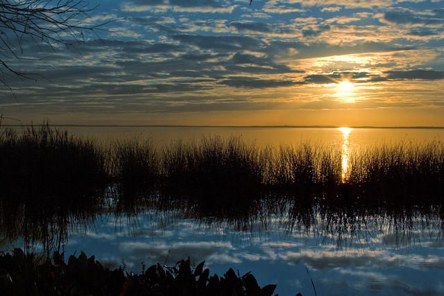 sunset over lake apopka
