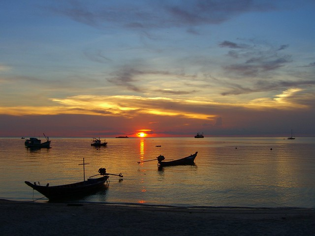 sunset in Koh Tao.
