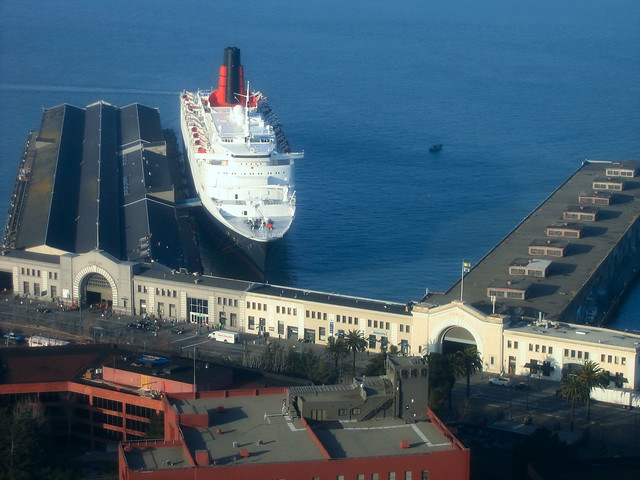 QE2 from Coit Tower
