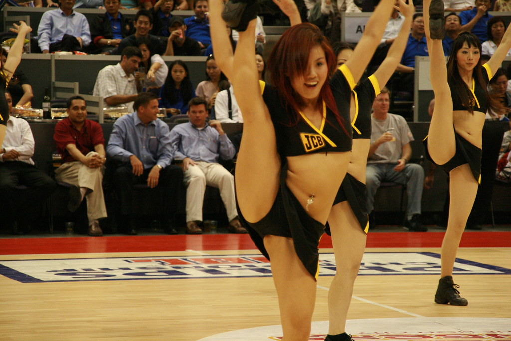 Upskirt asian cheerleade