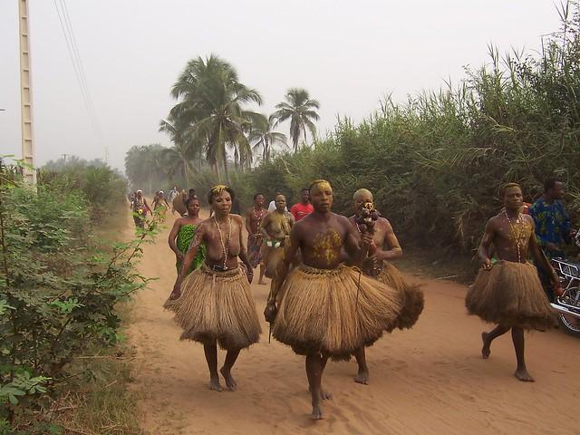 More trance dancers, Ouidah, Benin