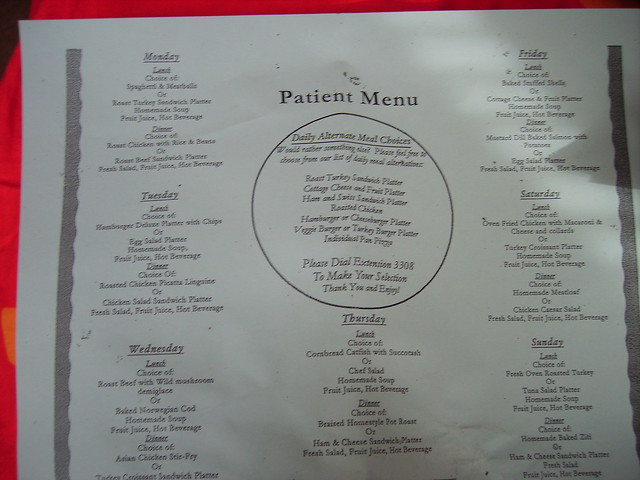 Patient Menu For The Week Flickr Photo Sharing
