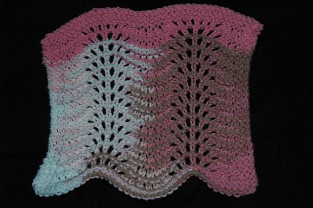 FO: Feather & Fan Dishcloth Pattern