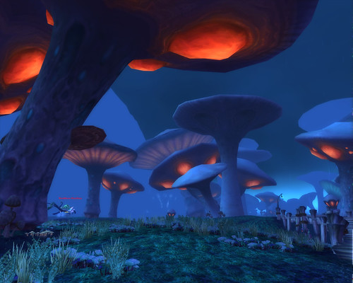 Zangarmarsh has some Scenic Mushrooms