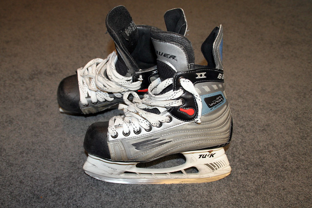 My old skates, Bauer Vapor XX. I bought these skates almost three years ago.