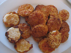 arancini(0.0), potato pancake(0.0), meal(1.0), breakfast(1.0), vegetable(1.0), croquette(1.0), fried food(1.0), vegetarian food(1.0), fritter(1.0), frikadeller(1.0), pakora(1.0), produce(1.0), food(1.0), dish(1.0), chicken nugget(1.0), cuisine(1.0), snack food(1.0), fast food(1.0),