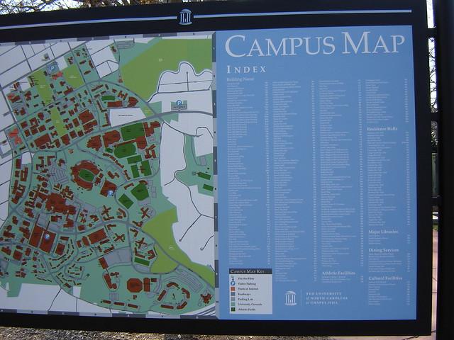 Unc Chapel Hill Campus Map Quest4pix Flickr