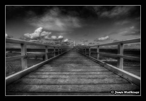Point Lonsdale Pier B&W