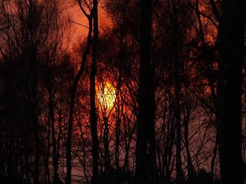 Flamender Sonnenuntergang