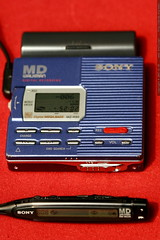 sony mz r90 minidisc recorder with remote control an…