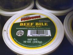 Beef bile?!?