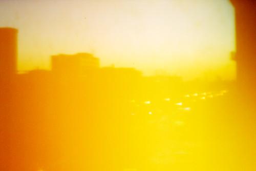 city orange sunrise pinhole louisville