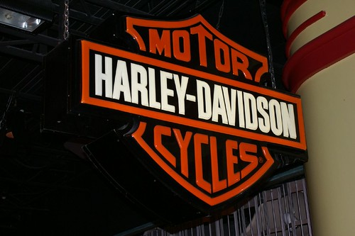 Harley-Davidson rental tours from Las Vegas - Harley sign