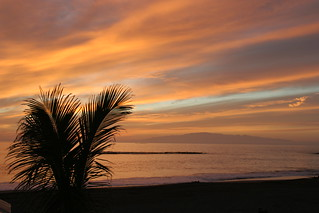 Image of Playa de Fañabe near Playa de las Américas. sunset beach evening tenerife ubuntu canaryislands lagomera ortegal hisgett fanabebeach