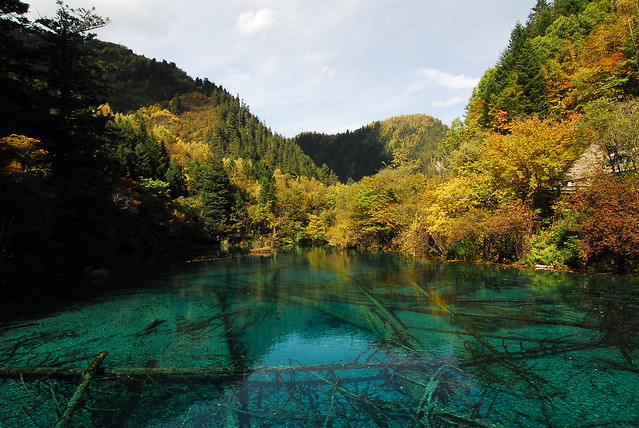Valle de Jiuzhaigou, China