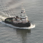 Tugboat Steaming South on East River