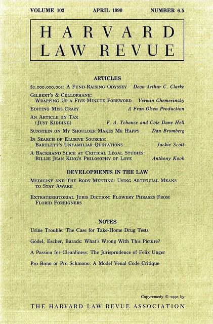 HL Revue 1990 cover