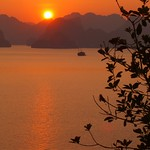 Sunset - Halong Bay, Vietnam