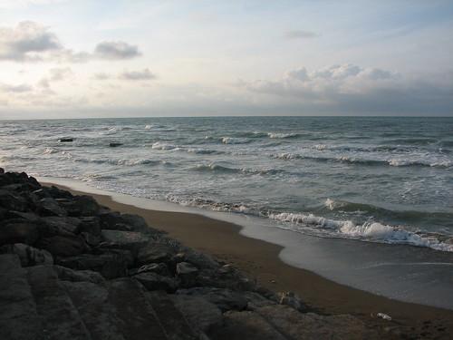 sunset sea nature rock clouds iran stones wave mazandaran caspiansea takenbymanamehraein praiseworthygroup