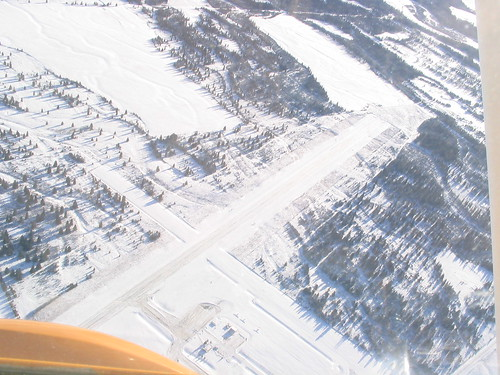 Flying over sundre airport