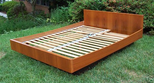 Danish Modern Queen Bed Frame