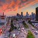 Sunset on CBC Montreal Skyline | davidgiralphoto.com by David Giral | davidgiralphoto.com