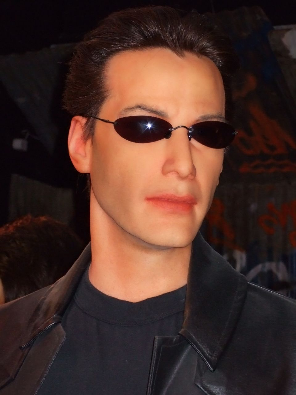 Keanu Reeves as Neo at the SF Wax Museum