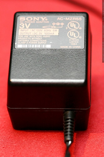 ac adapter / battery charger for sony mz r90 minidisc recorder    MG 8874
