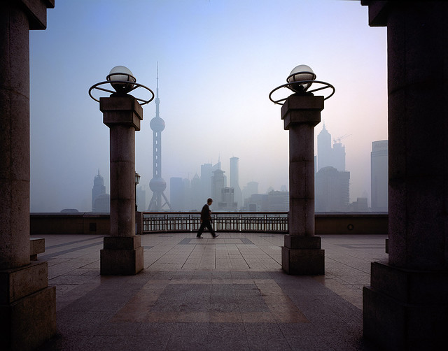 a quiet moment in Shanghai