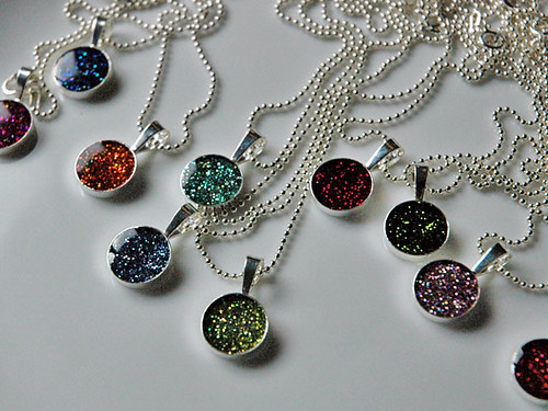 little dot necklaces