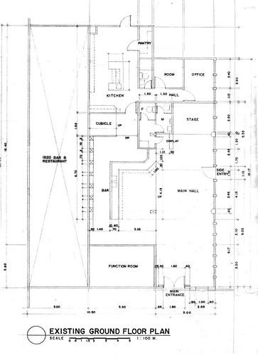 d'cafe - existing floor plan