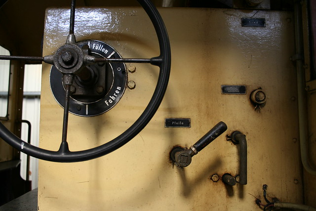 Operation panel of old locomotive